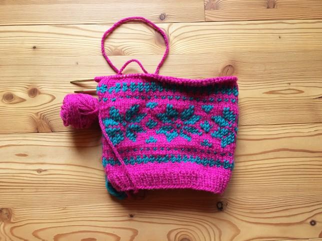 Mütze Glücksfrosch Norweger pink